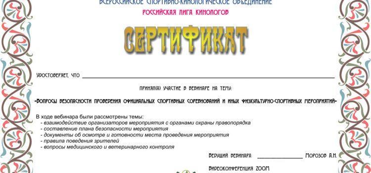 Онлайн-семинар по безопасности проведения соревнований